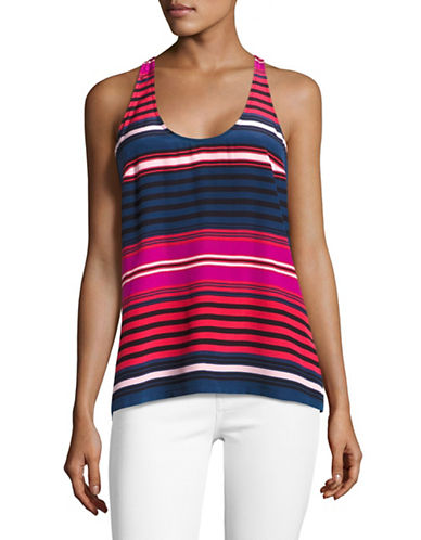 Joie Drew C Striped Tank Top-BLACK-X-Small 89198262_BLACK_X-Small