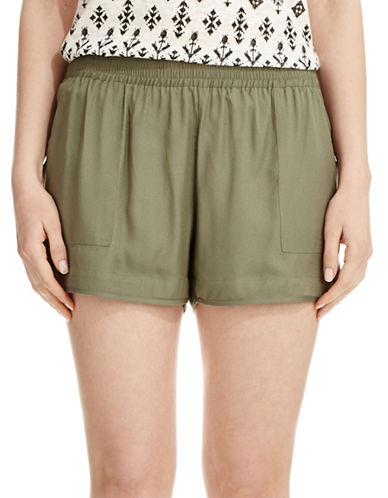 Joie Beso Dolphin Hem Shorts-BLACK-Large
