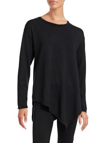 Soft Joie Tammy B Handkerchief Hem Top-BLACK-X-Small