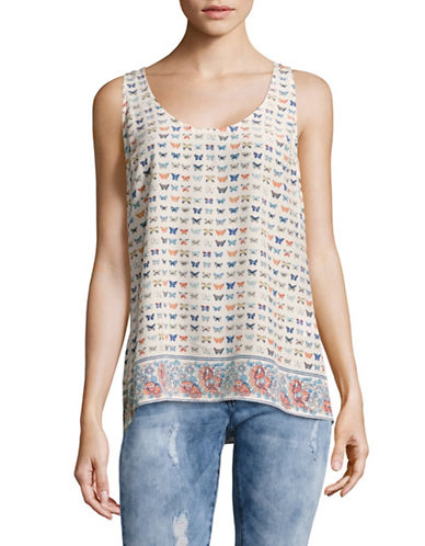 Joie Printed Tank Top-WHITE-Small 89117072_WHITE_Small
