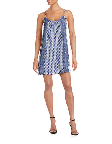 Soft Joie Printed Tank Dress-BLUE-Large