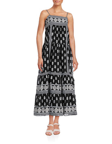Joie Prairie Skirt Maxi Dress-BLACK-2