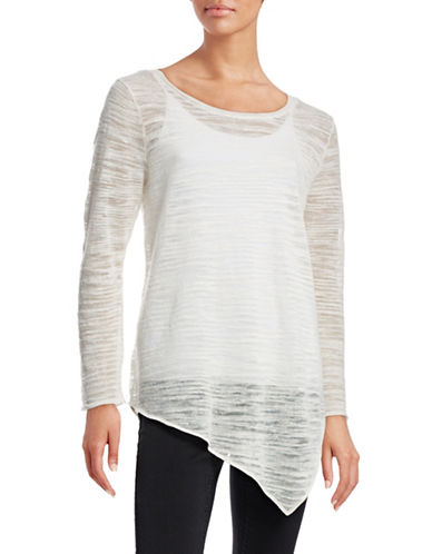 Joie Asymmetrical Long-Sleeve Top-WHITE-X-Small 88397656_WHITE_X-Small
