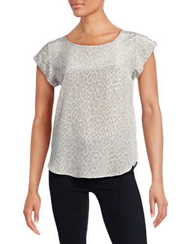 Joie One-Pocket Rancher Silk T-Shirt-GREY-Small 88397977_GREY_Small
