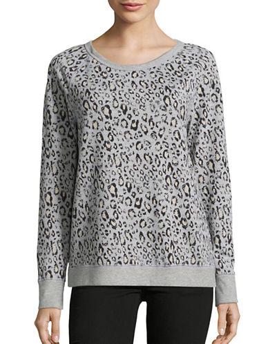Soft Joie Annora Cheetah Sweatshirt-GREY-Large 88645059_GREY_Large
