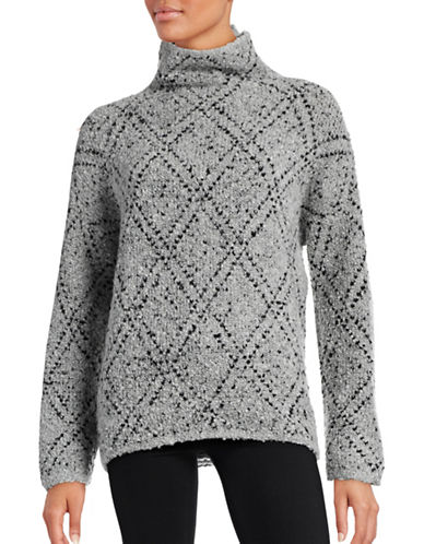 Soft Joie Diamond-Stitch Mock Neck Sweater-GREY-Small 88645065_GREY_Small