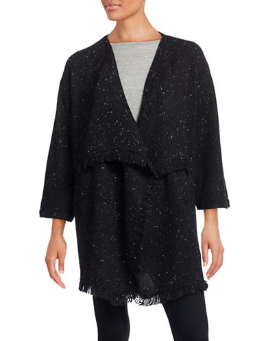 Soft Joie Draped Front Wool-Blend Cardigan-BLACK-Small 88603728_BLACK_Small