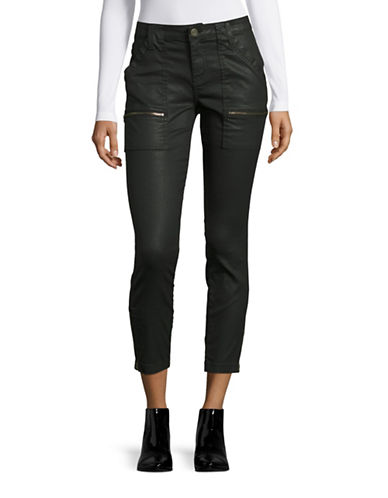 Joie Park Coated Skinny Jeans-BLACK-28