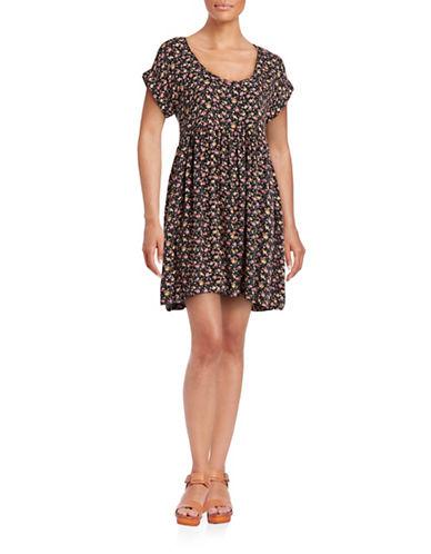 Soft Joie Floral Babydoll Dress-BLACK MULTI-Large