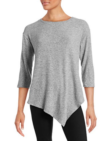 Soft Joie Tammy Stretch Top-GREY-Medium