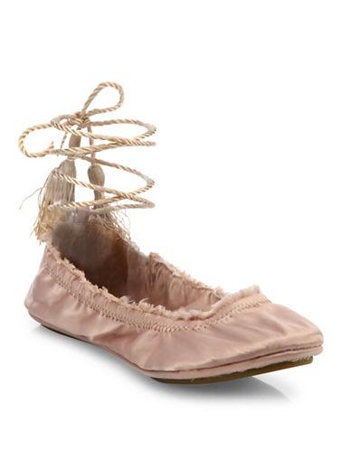 Joie Bandele Satin Ballet Flats-BEIGE-EUR 36.5/US 6.5