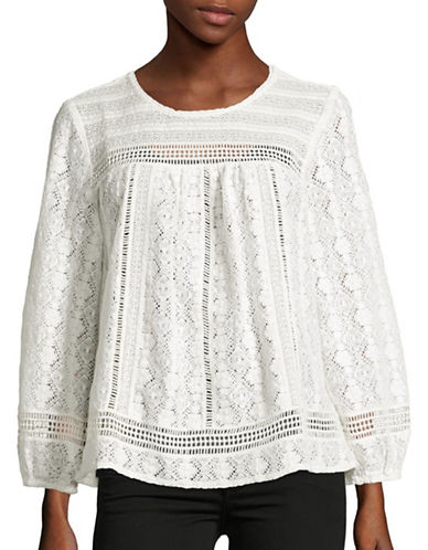 Joie Ganden Lace Top-WHITE-X-Small 88896345_WHITE_X-Small