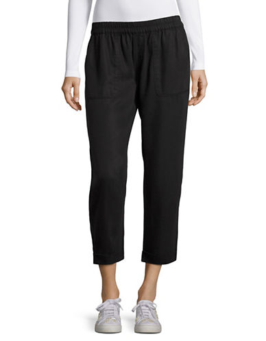 Soft Joie Saphine Cropped Rolled Hem Pants-BLACK-Small 88896839_BLACK_Small
