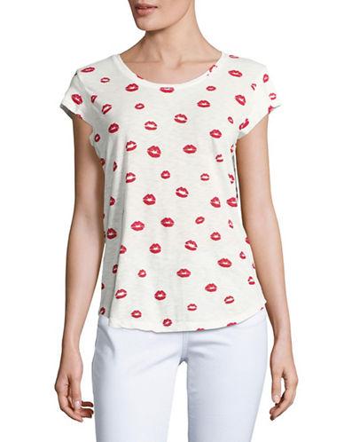 Soft Joie Dillon Kisses V-Neck T-Shirt-WHITE-X-Small 89037670_WHITE_X-Small