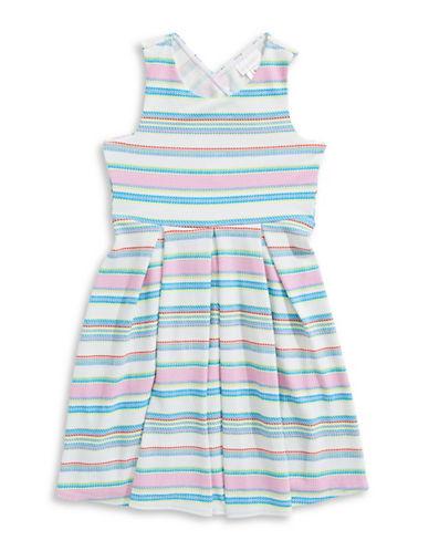 Lavender Bright Striped Fit-and-Flare-MULTI-10