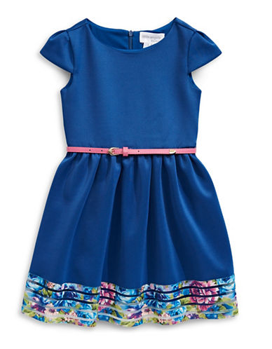 Little Angels Belted Dress-NAVY-3