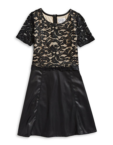 Blush Lace Popover Dress-BLACK-14