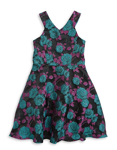Blush Floral Cutaway Dress-MULTI-16