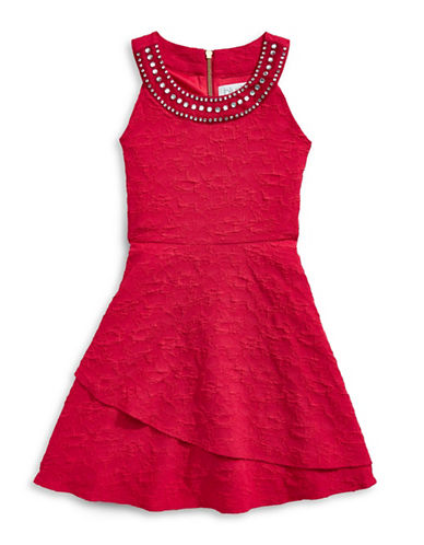 Blush Beaded Fit-and-Flare Dress-RUBY-14