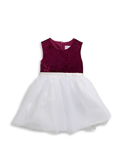 Little Angels Bow Detailed Dress-RED-4