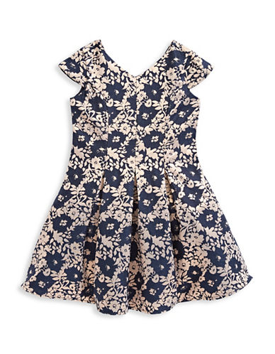 Little Angels Allover Brocade Dress-ASSORTED-2T