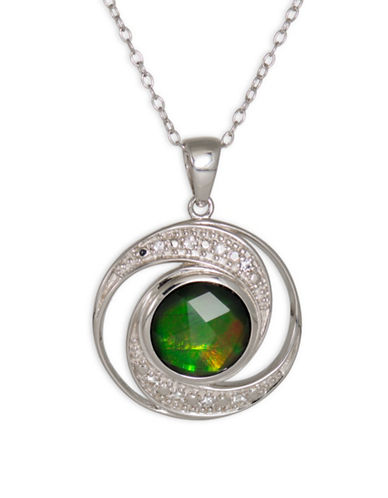 Korite Ammolite and Sterling Silver Pendant-AMMOLITE-One Size