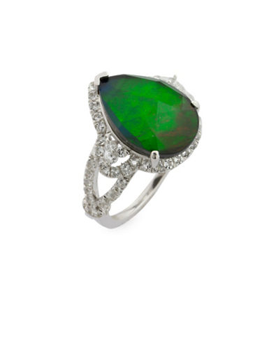 Korite Ammolite and Sterling Silver Ring-AMMOLITE-9