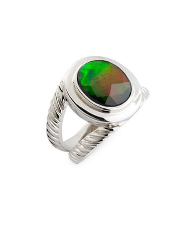Korite Ammolite and Sterling Silver Ring-AMMOLITE-6