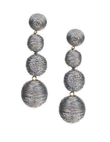 Kenneth Jay Lane Carnival Drop Earrings-SILVER-One Size