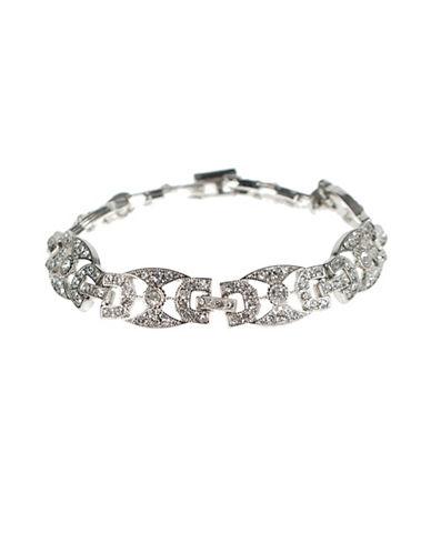 Kenneth Jay Lane Silvertone Link Bracelet-SILVER-One Size
