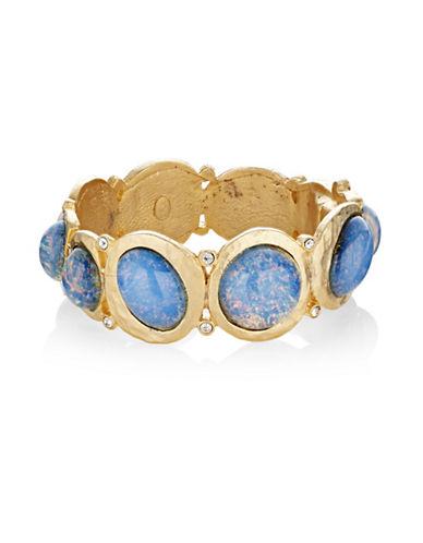 Kenneth Jay Lane Opal Hinged Bracelet-BLUE-One Size