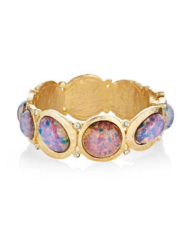 Kenneth Jay Lane Opal Hinged Bracelet-PINK-One Size
