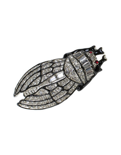 Kenneth Jay Lane Small Cicada Pin-ASSORTED-One Size