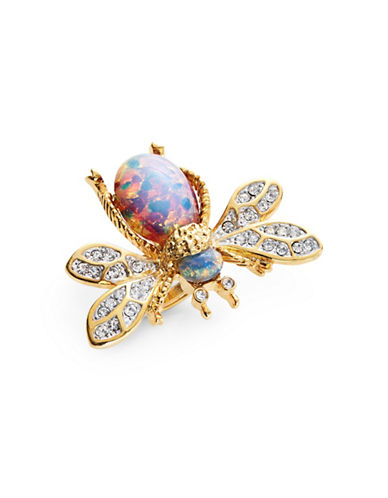Kenneth Jay Lane Mixed Opal Bug Ring-PINK-7