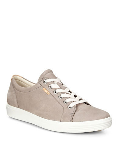 Ecco Dip Soft 7 Leather Sneakers-GREY-EUR 36/US 6