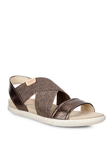 Ecco Damara Flat Sandals-BROWN-EUR 35/US 5