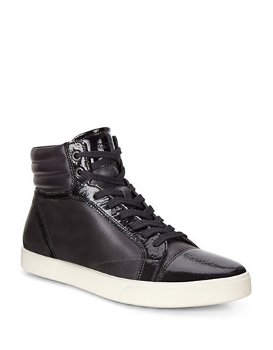Ecco Gillian High-Top Leather Sneakers-BLACK-EUR 38/US 8