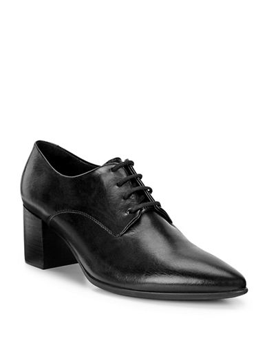 Ecco Shape 45 Leather Oxford Pumps-BLACK-EUR 38/US 8