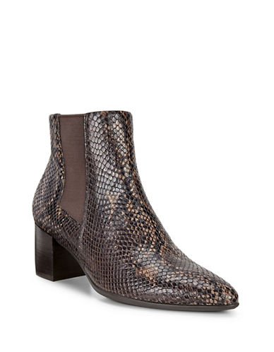 Ecco Shape 45 Printed Leather Ankle Boots-COFFEE-EUR 38/US 8