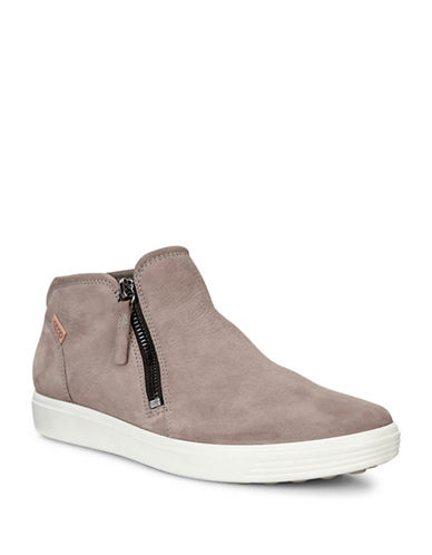 Ecco Soft 7 Side Zip Booties-GREY-EUR 37/US 7