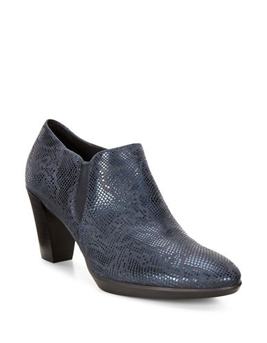 Ecco Snake Scale Plateau-Shaped Pumps-NAVY-EUR 36/US 6
