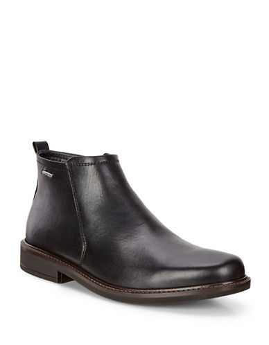 Ecco Holton GTX Leather Ankle Boots-BLACK-EU 40/US 7