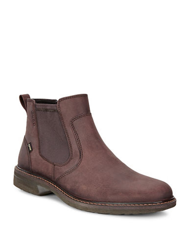 Ecco Turn GTX Chelsea Leather Ankle Boots-BROWN-EU 41/US 8