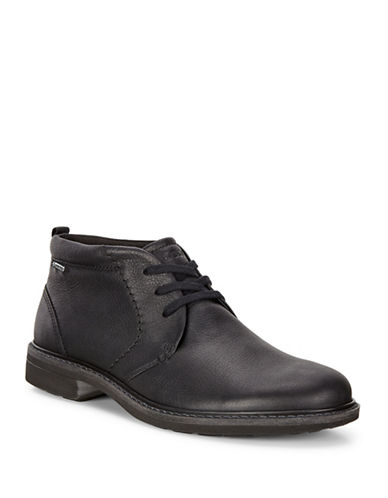 Ecco Turn GTX Leather Chukka Boots-BLACK-EU 43/US 10