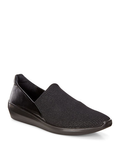 Ecco Insice Stretch Slip-On Shoes-BLACK-EUR 38/US 8
