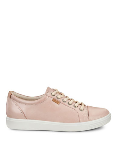Ecco Womens Soft 7 Low Top Sneakers-ROSE DUST-EUR 39/US 9