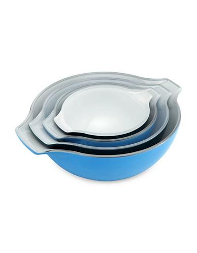 Creo Smartglass Four-Piece Nesting Bowl Set-BLUE-One Size