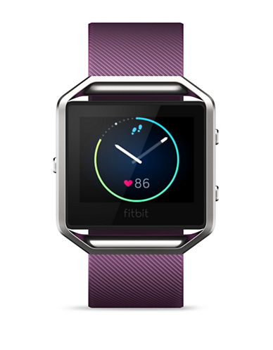 Fitbit Small Blaze Smart Fitness Polyurethane Strap Watch-PLUM-Small