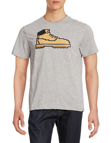 Mostly Heard Rarely Seen Hunting Logo T-Shirt-GREY-Small 88182121_GREY_Small