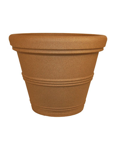 Tusco Products Rolled Rim Planter-BROWN-One Size